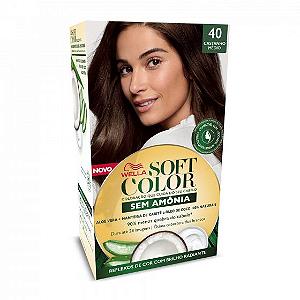 SOFT COLOR Coloração Permanente 40 Castanho Médio