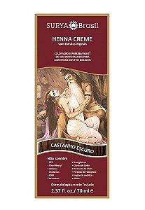 SURYA Henna Creme Tonalizante Vegano Castanho Escuro 70ml
