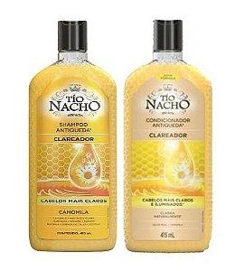 TÍO NACHO Antiqueda Clareador Shampoo + Condicionador 415ml