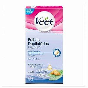 VEET Easy Grip Folhas Depilatórias para Peles Delicadas 12un