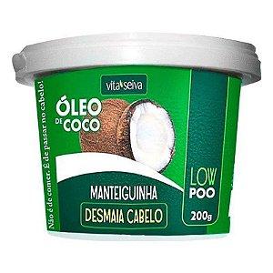 VITA SEIVA Manteiguinha Desmaia Cabelo com Óleo de Coco 200g