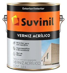 Suvinil Verniz Acrílico Incolor 3,6 Litros