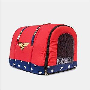Bolsa de Transporte Mulher Maravilha para Cachorros e Gatos