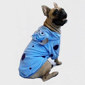 Blusa para Cachorros e Gatos Monstro Azul