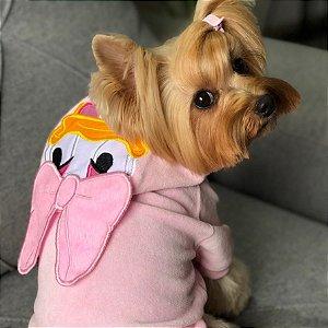 Blusa para Cachorros e Gatos Patinha Rosa