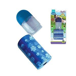 Refil de Saquinhos para Cata Caca com Gel Pop Bag Azul
