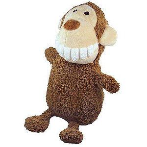 Brinquedo para Cachorro Pelúcia Dentinho Macaco