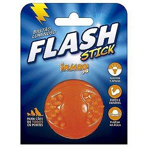 Brinquedo para Cachorro Bola Light Flash TPR Laranja