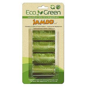 Refil de Saquinhos para Cata Caca Eco Green com 4 Rolos