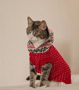 Tricot com Capuz Acerola para Cachorros e Gatos
