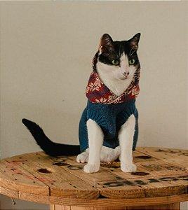 Tricot Com Capuz Mirtilo para Cachorros e Gatos
