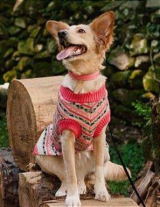 Suéter para Cachorros e Gatos | Tricot Retrô Framboesa