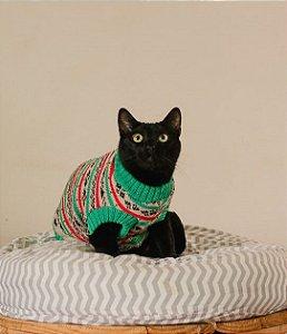 Suéter de Tricot Retrô Avocado para Cachorros e Gatos