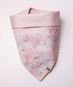 Bandana para Cachorros e Gatos | Dupla Face Marble Pink