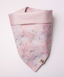 Bandana Dupla Face Marble Pink