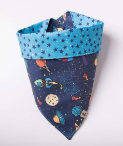 Bandana para Cachorros e Gatos | Dupla Face Space Food