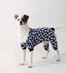 Macacão para Cachorros Fantasminha Azul Marinho