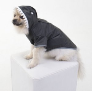 Capa de Chuva para Cachorros Tubarão