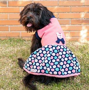 Vestido para Cachorros | Rosa com Bolinhas