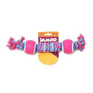 Brinquedo para Cachorros Corda Twisted com Duas Bolas de Tênis