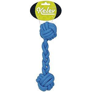 Brinquedo para Cachorros | Corda Osso Azul Kelev