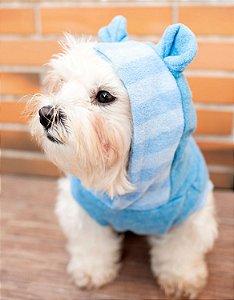 Moletom para Cachorros | Ursinho Azul Listrado