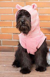 Moletom para Cachorros | Ursinho Rosa Listrado