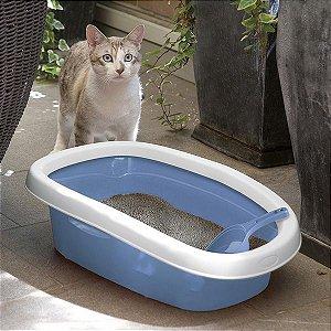 Bandeja de Areia Azul para Gatos