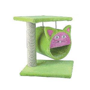 Arranhador Suspenso para Gatos Luxo Verde