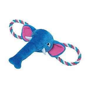 Brinquedo para Cachorros | Elefante Azul com Corda