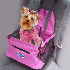 Assento para Veículos para Cachorros e Gatos | Car Seat Rosa