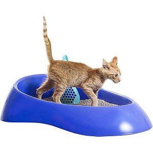 Caixa de Areia para Gatos Azul