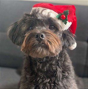 Fantasia Natal para Cachorros e Gatos Gorro de Papai Noel