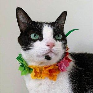 Fantasia para Cachorros e Gatos | Colar Havaiano | Carnaval