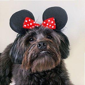 Fantasia para Cachorros e Gatos | Tiara Orelhas Ratinho com Laço