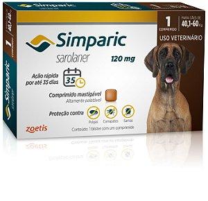 Antipulgas Simparic 120mg | Cães de 40,1 a 60kg