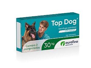 Vermífugo Top Dog Ourofino | Cães até 30kg