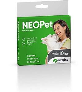 Antipulgas e Carrapatos Neopet | Cães até 10kg