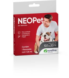 Antipulgas e Carrapatos Neopet | Cães 10,1 a 20kg
