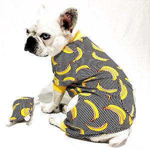Pijama para Cachorros e Gatos | Banana Listrado