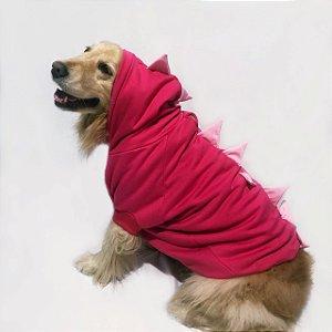 Moletom para Cachorros | Dinossauro Rosa