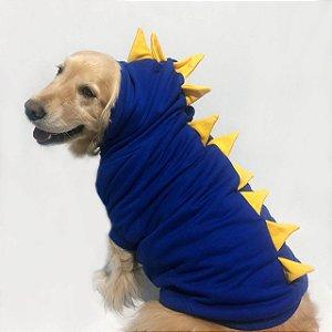 Moletom para Cachorros | Dinossauro Azul com Amarelo