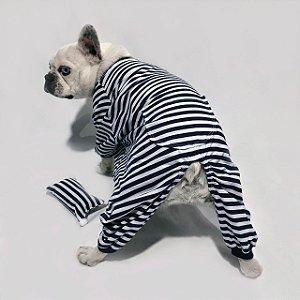 Pijama para Cachorros | Listrado Azul Marinho