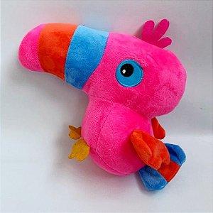 Brinquedo para Cachorros Pelúcia Tucano Rosa