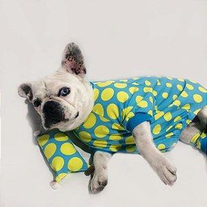 Pijama para Cachorros | Azul Poá Neon