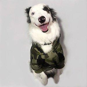 Moletom para Cachorros Camuflado Verde