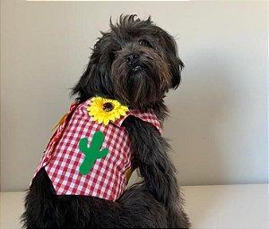 Fantasia para Cachorros | Colete Caipira Vermelho