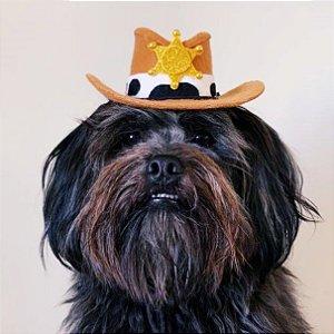 Fantasia para Cachorros e Gatos | Chapéu Cowboy Policial | Festa Junina