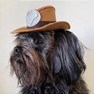 Fantasia para Cachorros e Gatos | Chapéu Cowboy | Festa Junina