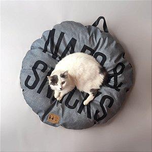 Almofada para Cachorros e Gatos | Naps & Snacks Cinza